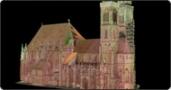 Reconstruction Building History St. Sebald, Nuremberg