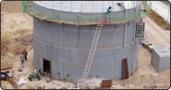 Rebuilding of a gas-tank sewage plant Kleinschwarzenlohe