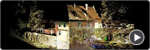 Watch an animated 3D-Laserscan of the Gärtnerhaus Rothenburg o. d. Tauber